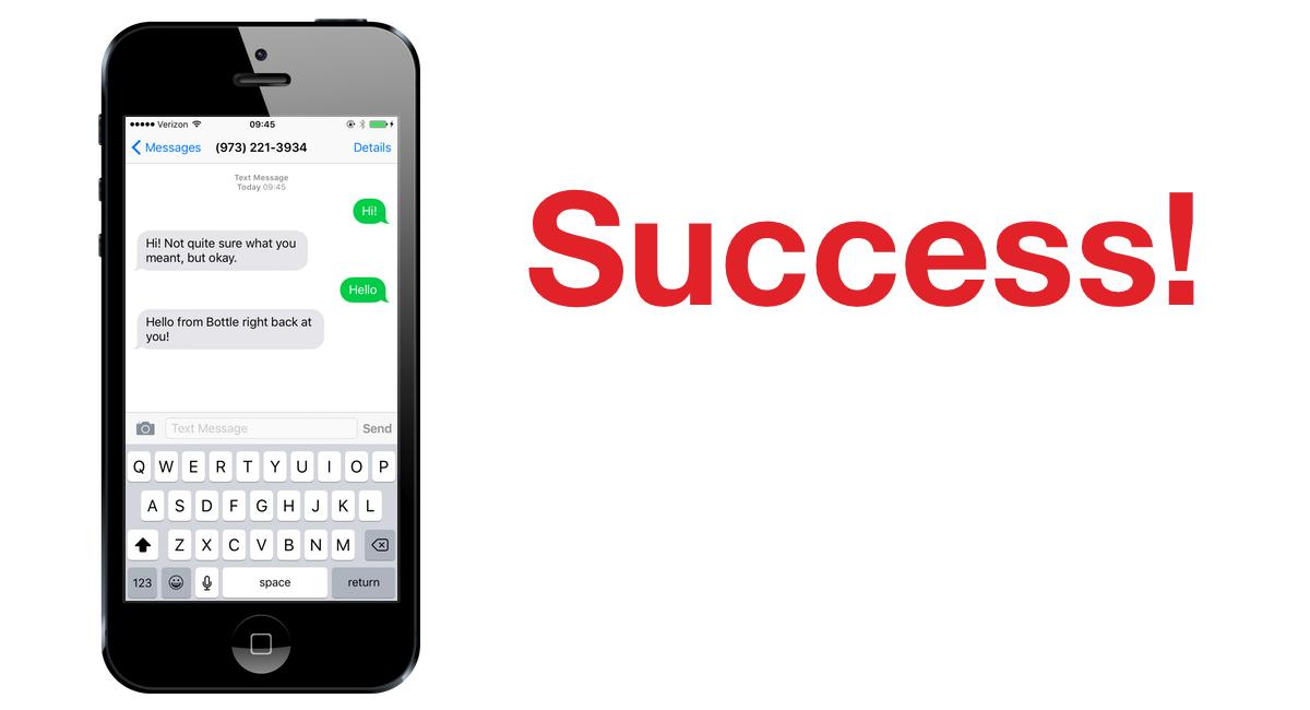 Пример снимка экрана, на котором показаны ответы на SMS на iPhone.