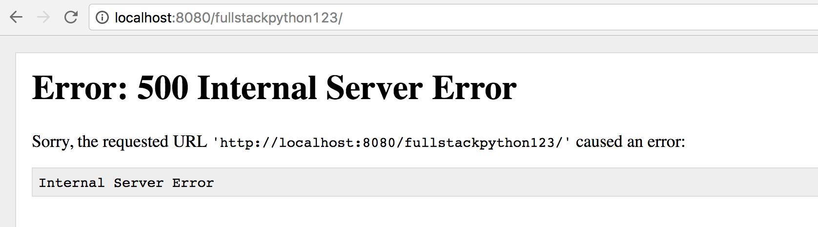 Мы получаем ошибку 500 при добавлении чисел в URL.
