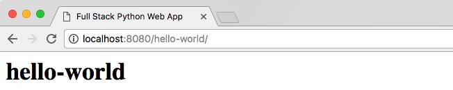 Тестирование в / hello-world / возвращает ответ HTTP 200.