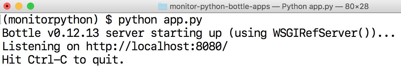 Запустить локальный сервер разработки Bottle.