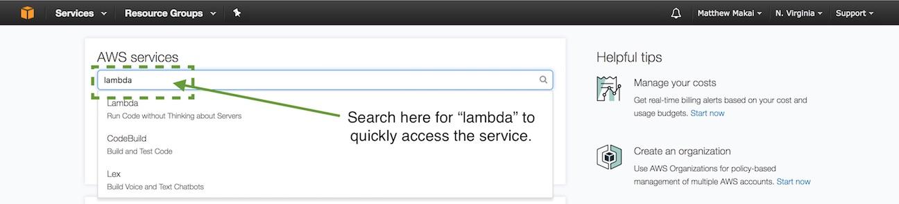 Найдите лямбда-выражение в текстовом поле панели управления.
