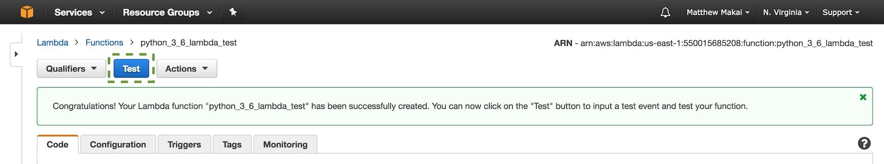Тестовая кнопка на экране выполнения.