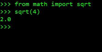 Вычисление квадратного корня Python из положительного целого числа