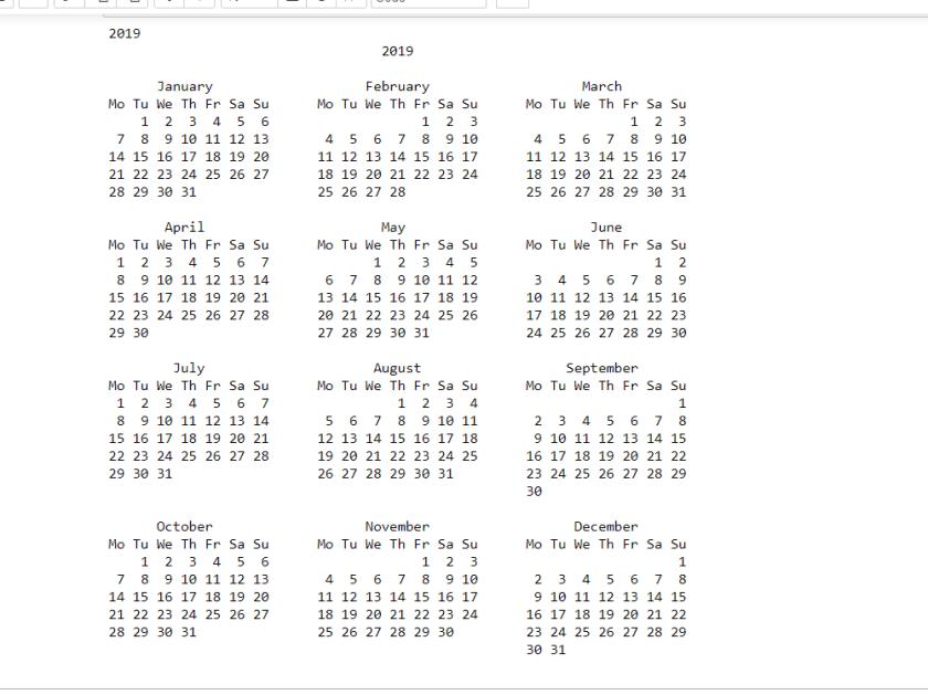 календарь python