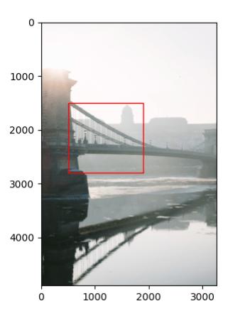 Построение прямоугольника Matplotlib на изображении