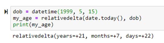 Получить разницу между двумя датами в python