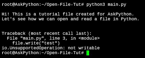 Файл писать не разрешено чтение только режим