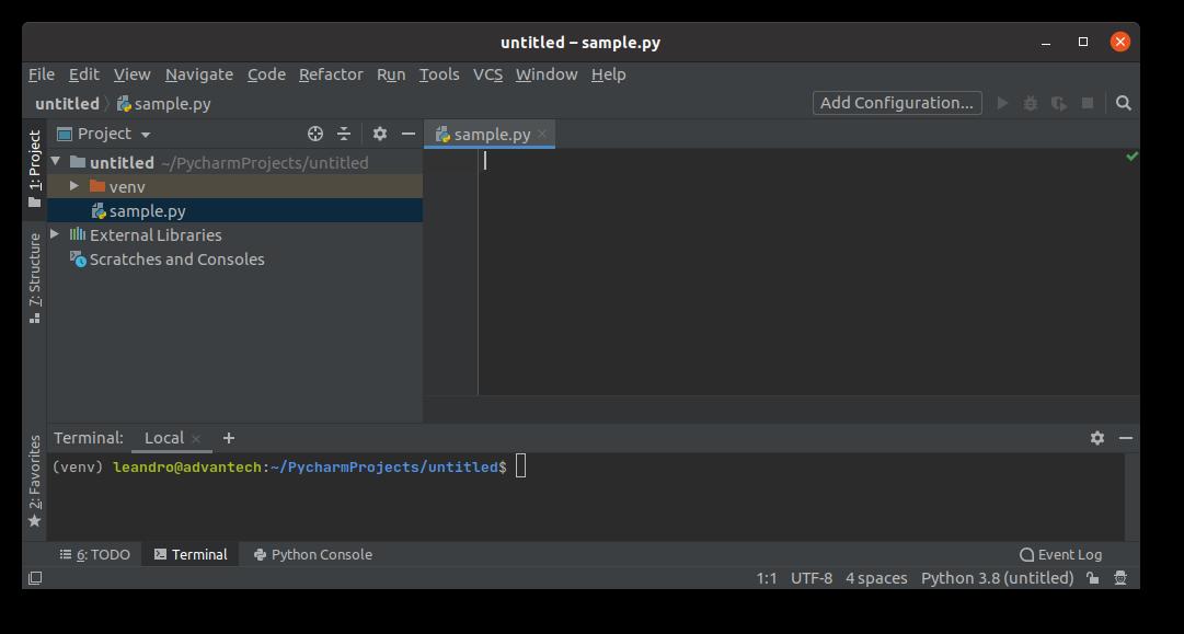 Автоматизированное управление средой python PyCharm