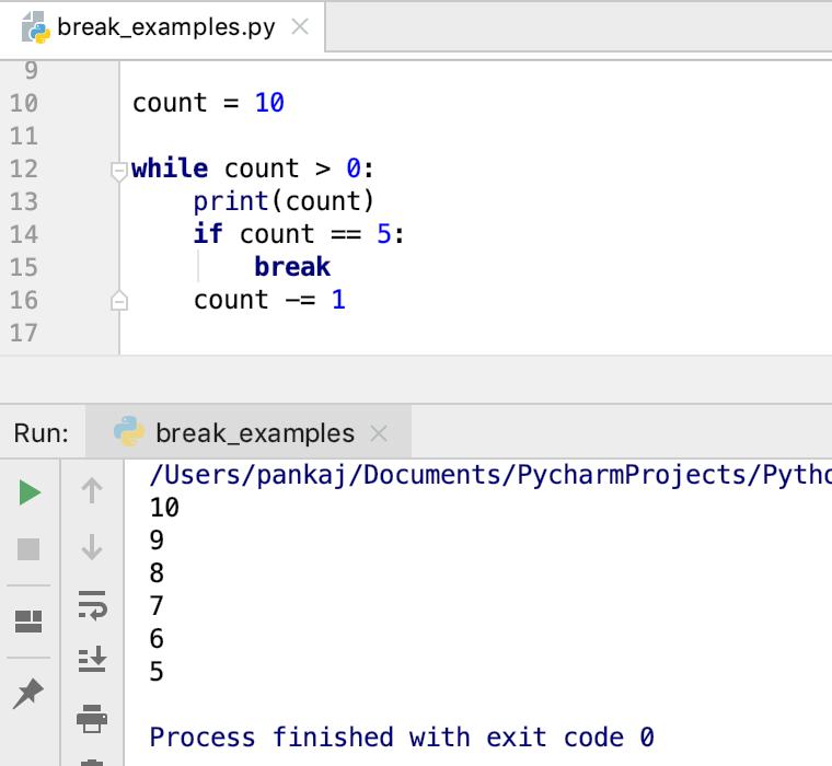 Выявление Python Braps во время петли
