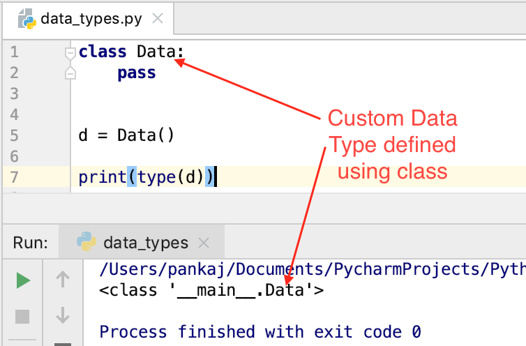 Тип данных Python Custom
