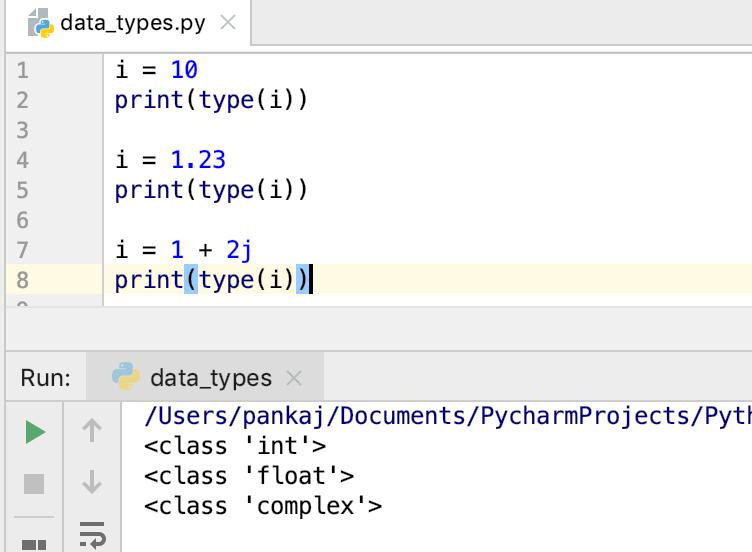 Python чисел типы данных