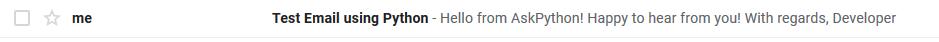 Python Test Email.